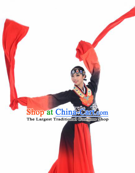 Chinese Traditional Classical Dance Costume Beijing Opera Dance Water Sleeve Red Dress for Women