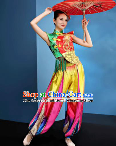30f5cd28f Traditional Chinese Spring Festival Folk Dance Clothing Yangko Dance Drum  Dance Costume for Women