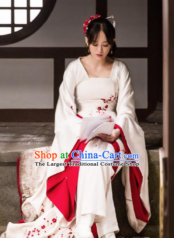 Chinese Traditional Drama Ancient Sui Dynasty Nobility Lady Dugu Galois Embroidered Historical Costume for Women
