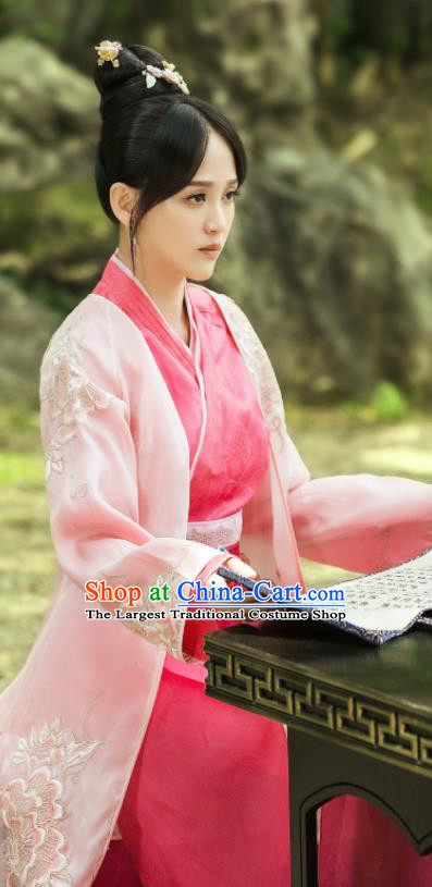 Drama Queen Dugu Chinese Traditional Ancient Hanfu Dress Sui Dynasty Nobility Lady Embroidered Historical Costume for Women