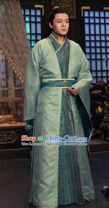 Chinese Ancient Nobility Childe Clothing Traditional Sui Dynasty Prince Embroidered Historical Costume for Men