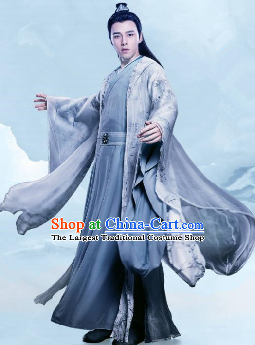 Chinese Ancient Drama Queen Dugu Sui Dynasty Royal Highness Yang Zan Historical Costume for Men