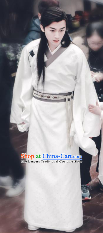 Chinese Ancient Sui Dynasty Nobility Childe Swordsman Yang Jian Historical Costume for Men