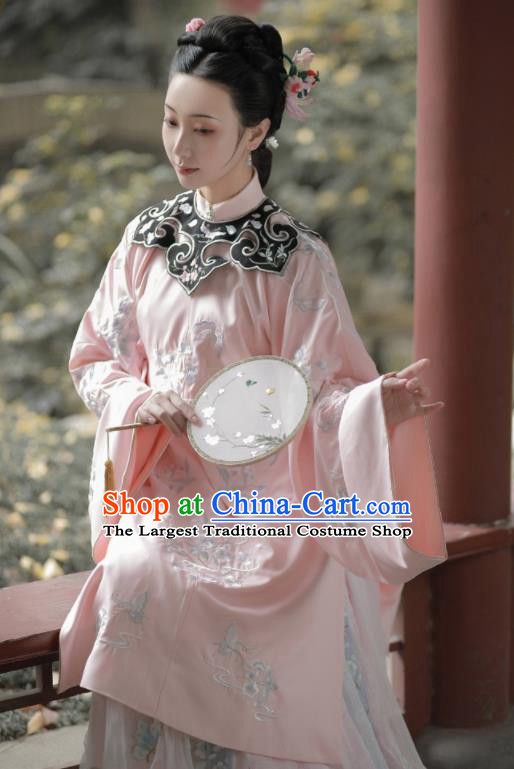 Chinese Traditional Ming Dynasty Imperial Consort Hanfu Dress Ancient Palace Lady Embroidered Historical Costume for Women