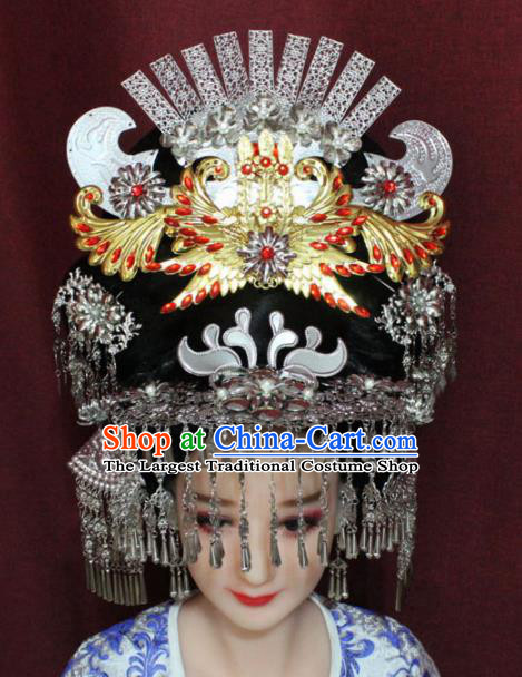 1375fec7b Chinese Ancient Queen Phoenix Coronet Hairpins Traditional Palace Wedding  Hair Accessories for Women