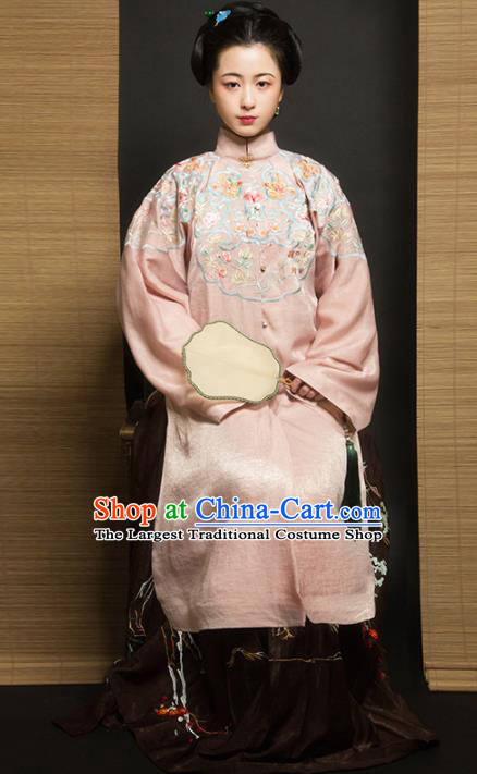 Chinese Traditional Ming Dynasty Imperial Consort Historical Costume Ancient Court Embroidered Hanfu Dress for Women