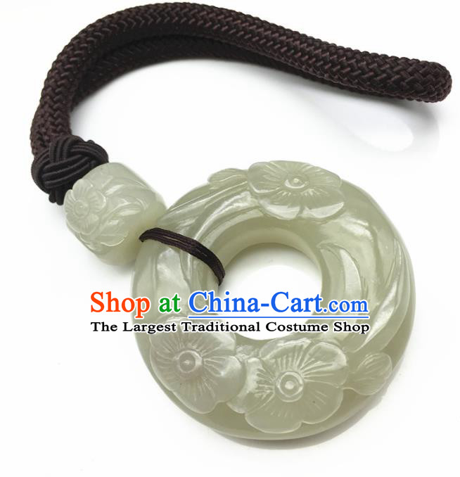 Chinese Handmade Jade Craft Carving Jade Jewelry Accessories Jade Necklace Pendant