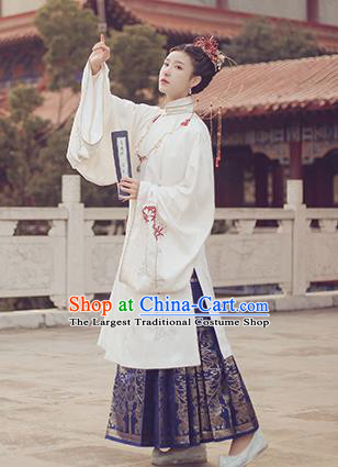 Ancient Chinese Ming Dynasty Court Queen Hanfu Dress Traditional Imperial Empress Embroidered Historical Costume for Women
