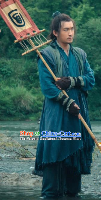 Chinese Drama Hoshin Engi Traditional Ancient Zhou Dynasty Swordsman Ji Fa Historical Costume for Men
