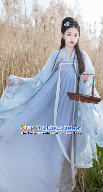 Asian Chinese Traditional Tang Dynasty Court Princess Historical Costume Ancient Peri Hanfu Dress for Women