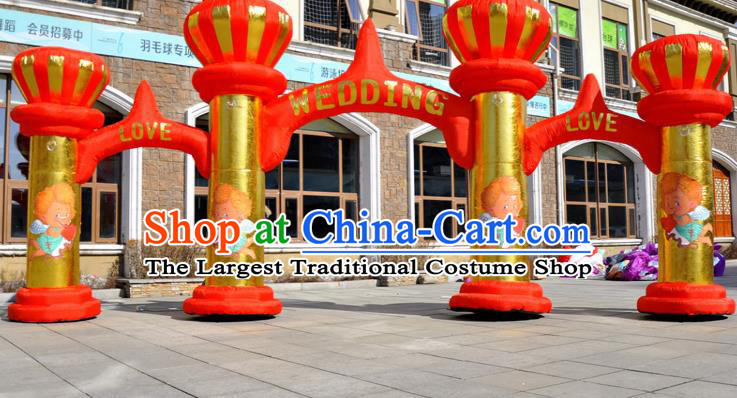 Large Christmas Inflatable Product Models Wedding Red Inflatable Arches Archway