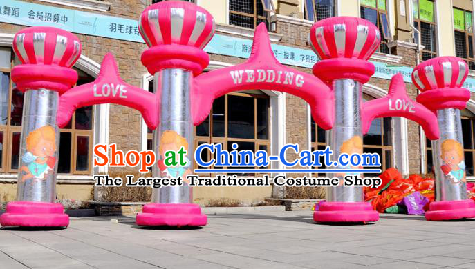 Large Christmas Inflatable Product Models Wedding Pink Inflatable Arches Archway