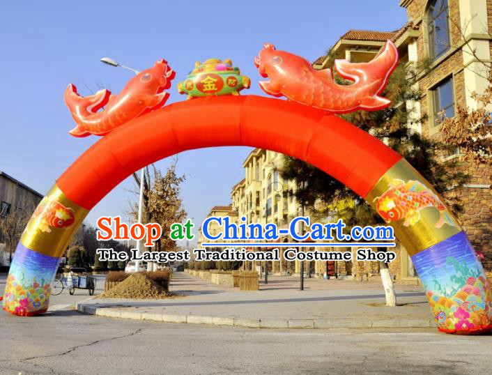 Large Chinese Opening Inflatable Carps Archway Product Models New Year Inflatable Arches