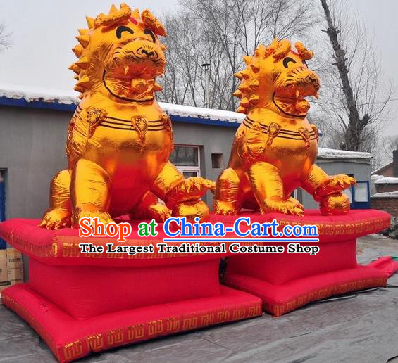 Large Chinese Moving Lion Inflatable Product Models New Year Inflatable Arches