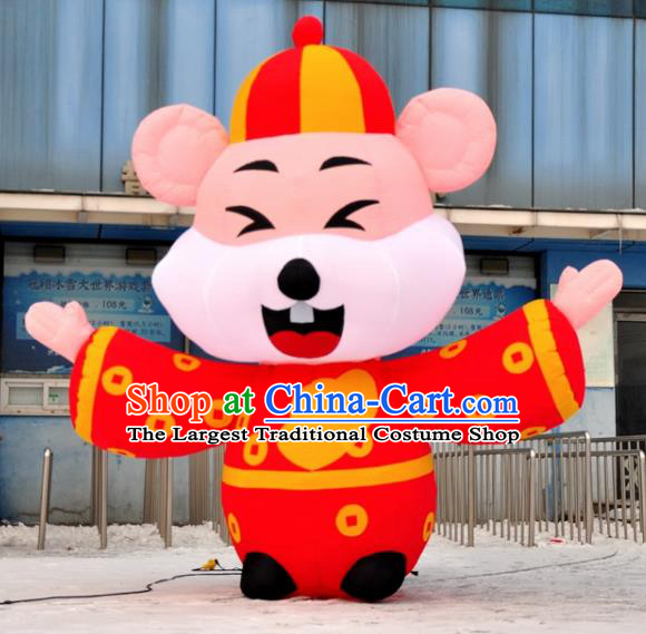 Large Chinese Inflatable Red Rat of Wealth Models Inflatable Arches Archway