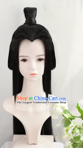 Chinese Cosplay Taoist Nun Wigs Best Quality Wigs China Wig Chignon Ancient Female Swordsman Wig Sheath