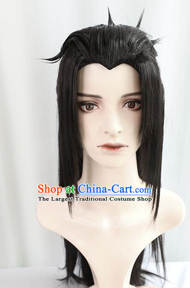 Best Chinese Cosplay Knight Wig Sheath China Quality Wigs Ancient Swordsman Young Hero Wig