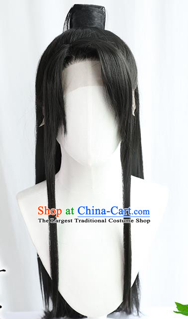 Best Chinese Drama Cosplay Knight Wig Sheath China Quality Front Lace Wigs Ancient Swordsman Wig