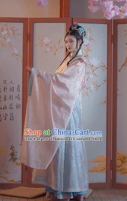 Ancient China Ming Dynasty Palace Princess Clothing Traditional Hanfu Dress Court Lady Historical Costumes Full Set