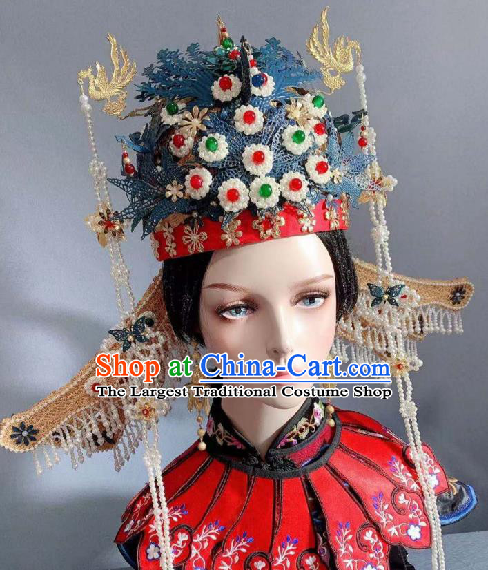 China Traditional Ming Dynasty Empress Headwear Ancient Court Queen Phoenix Coronet Golden Dragon Hairpins Full Set