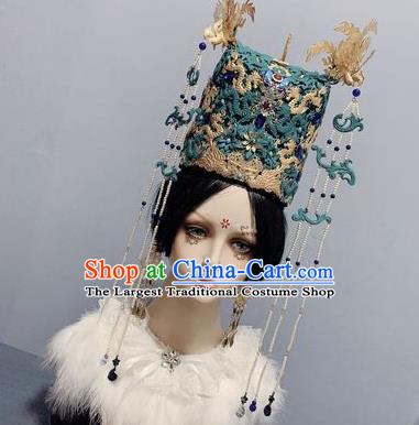 China Traditional Hair Crown Hairpins Ancient Court Queen Phoenix Coronet Ming Dynasty Empress Headwear Full Set