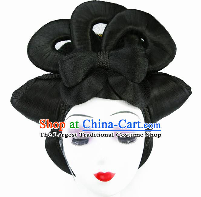 Chinese Classical Tang Dynasty Imperial Concubine Wigs Hair Accessories Ancient Royal Queen Chignon for Women