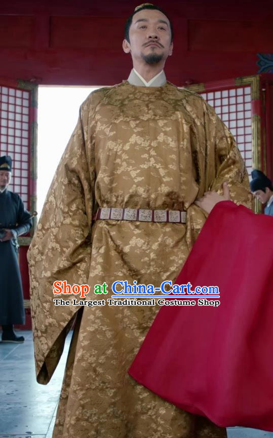 Traditional Chinese Drama Royal Nirvana Ancient Imperator Xiao Jian Clothing Song Dynasty Emperor Costumes for Men