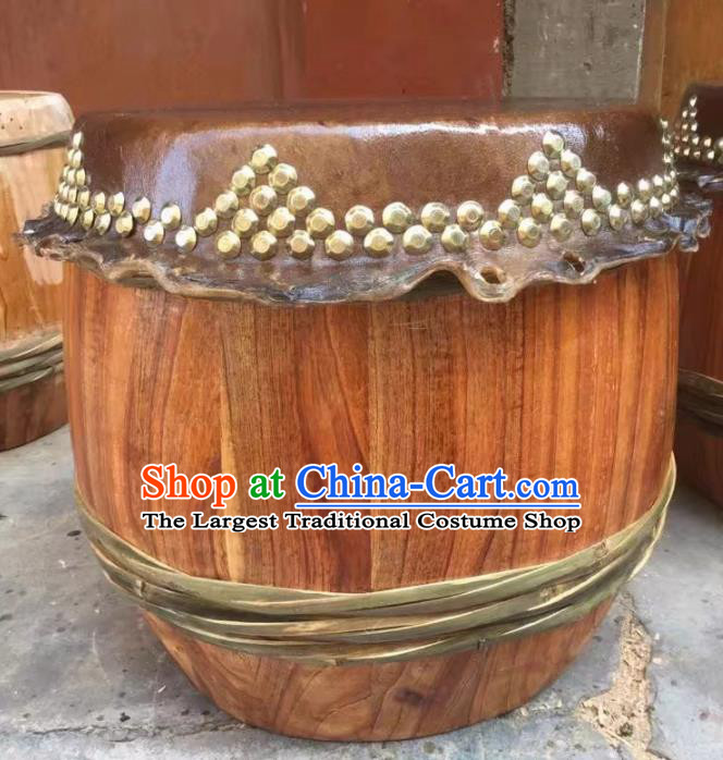 Chinese World Lion Dance Wood Cowhide Drum Traditional Lion Dance Musical lnstruments Drum