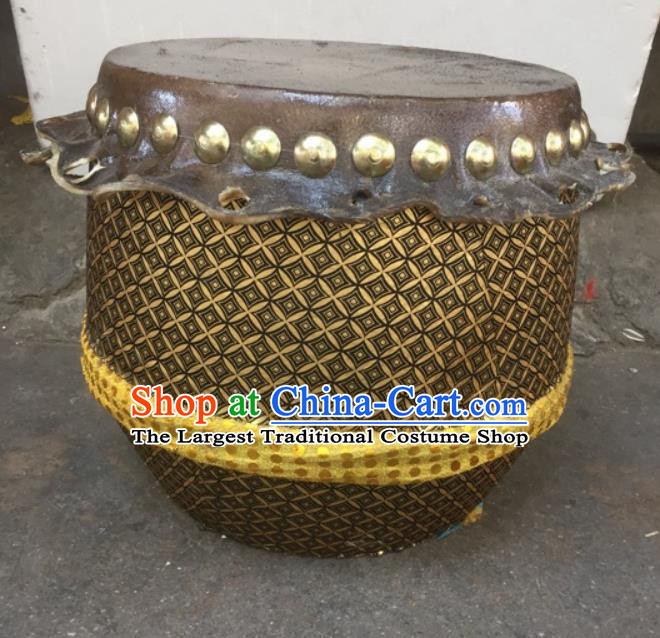Chinese Lion Dance Cowhide Drum Traditional Lion Dance Musical lnstruments Drum