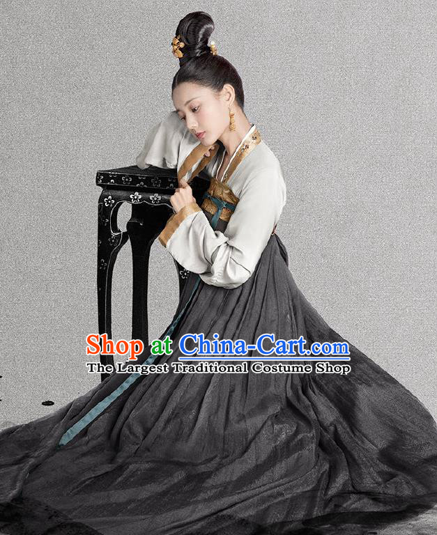 Royal Nirvana Chinese Ancient Song Dynasty Patrician Lady Lu Wenxi Replica Costumes for Women