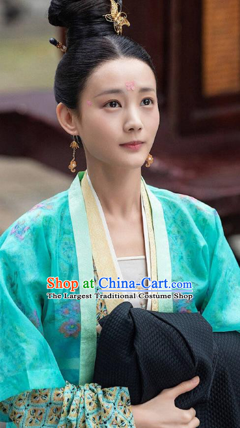 Chinese Ancient Song Dynasty Nobility Lady Drama Royal Nirvana Lu Wenxi Replica Costumes for Women