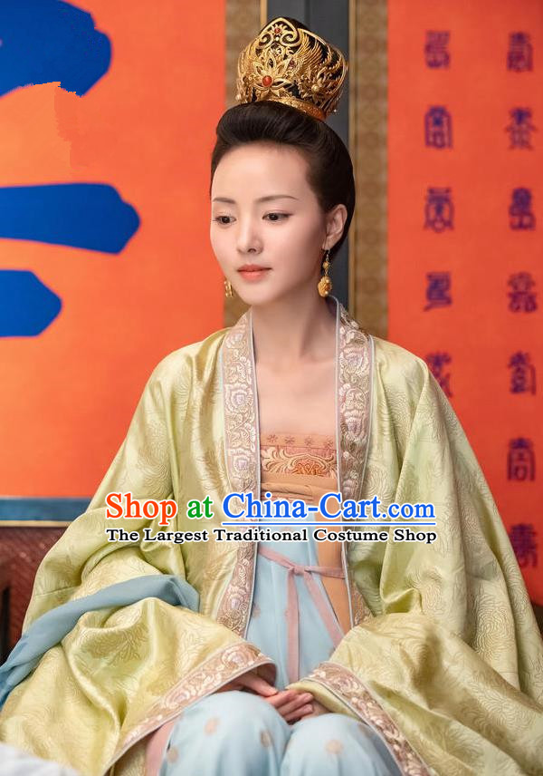 Chinese Drama Royal Nirvana Ancient Crown Princess Zhang Nianzhi Replica Costumes and Headpiece for Women
