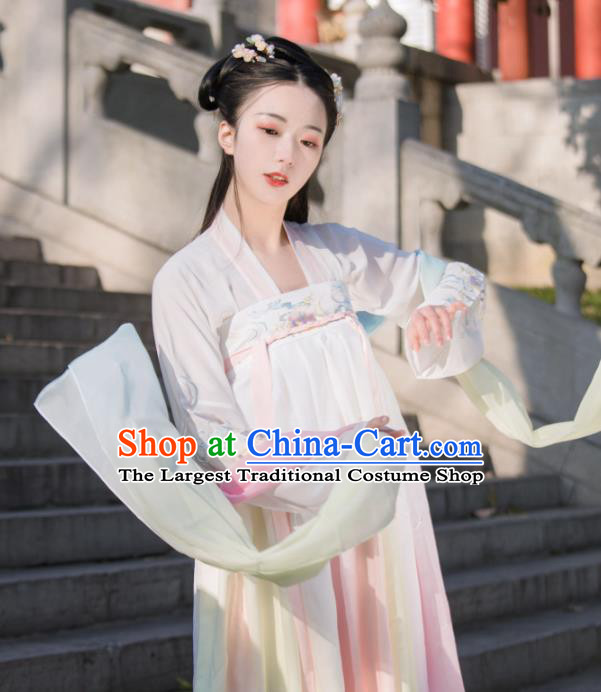 Chinese Traditional Tang Dynasty Patrician Lady Hanfu Dress Ancient Court Maid Historical Costumes for Women