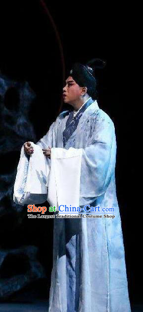 Xin Ting Lei Chinese Ping Opera Xiaosheng Costumes and Headwear Pingju Opera Apparels Young Male Clothing