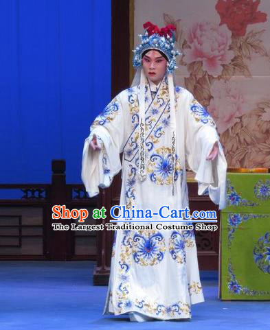 Zhu Hen Ji Chinese Ping Opera Wusheng Young Male Costumes and Headwear Pingju Opera Martial Male Zhu Chundeng Apparels Clothing