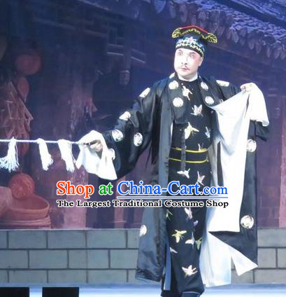 Bao Gong San Kan Butterfly Dream Chinese Ping Opera Wusheng Costumes and Headwear Pingju Opera Apparels Martial Male Clothing