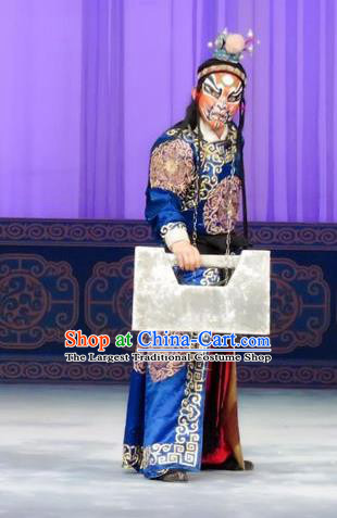 Qian Kun Belt Chinese Ping Opera Takefu Wusheng Costumes and Headwear Pingju Opera Martial Male Apparels Clothing
