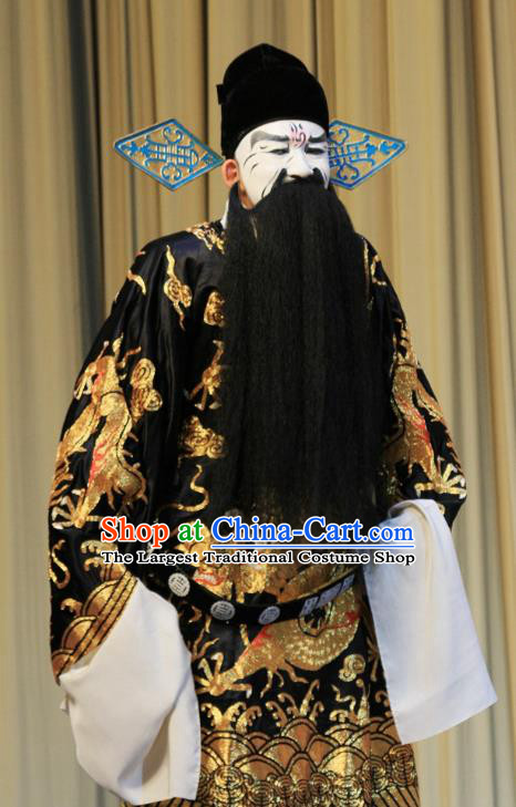 Linjiang Post Chinese Ping Opera Elderly Male Costumes and Headwear Pingju Opera Laosheng Apparels Official Clothing