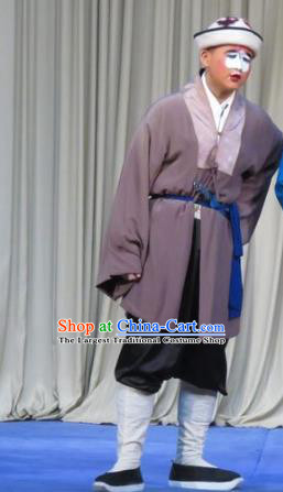Chinese Ping Opera Figurant Male Role Costumes and Headwear Pingju Opera Bellman Apparels Clothing
