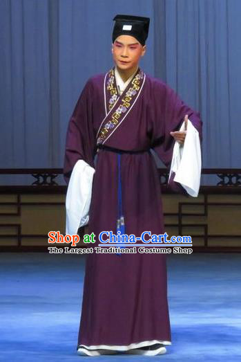 Chinese Ping Opera Niche Costumes and Headwear Pingju Opera Young Male Scholar Zhao Lianfang Apparels Clothing