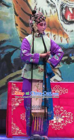Chinese Ping Opera Costumes Apparels and Headpieces Yang Bajie You Chun Traditional Pingju Opera Young Lady Dress Garment