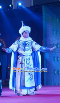 Xiaozhuang Changge Chinese Ping Opera Young Male Costumes and Headwear Pingju Opera Xiaosheng Dorgon Apparels Clothing