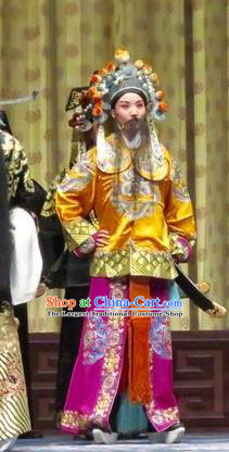 Qin Xianglian Chinese Ping Opera Bodyguard Garment Costumes and Headwear Pingju Opera Martial Male Apparels Clothing