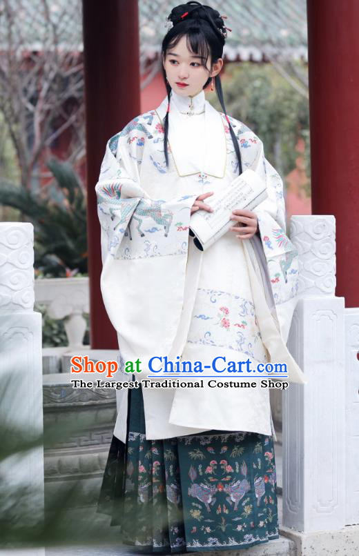 Chinese Traditional Ming Dynasty Royal Princess Historical Costumes Ancient Court Lady Hanfu Dress Patrician Woman Apparels