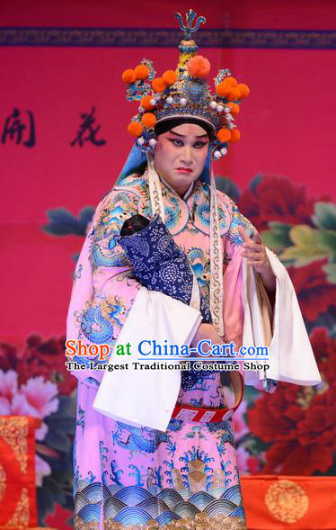 Li Sanniang Chinese Ping Opera General Garment Costumes and Headwear Pingju Opera Wusheng Apparels Clothing