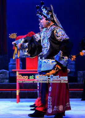 Breeze Pavilion Chinese Ping Opera Bodyguard Garment Costumes and Headwear Pingju Opera Wusheng Apparels Clothing