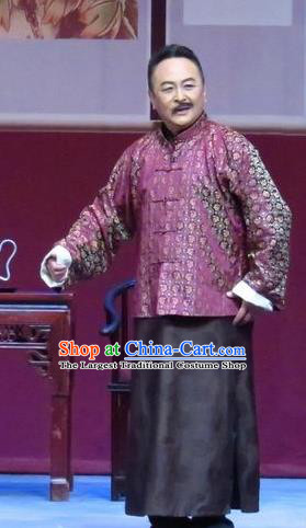 Zhao Yunniang Chinese Ping Opera Republican Period Garment Costumes Pingju Opera Elderly Male Apparels Clothing