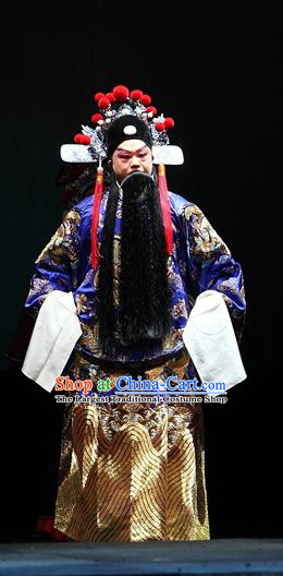 Cao Min Song Shijie Chinese Sichuan Opera Official Mao Peng Apparels Costumes and Headpieces Peking Opera Highlights Garment Governor Clothing