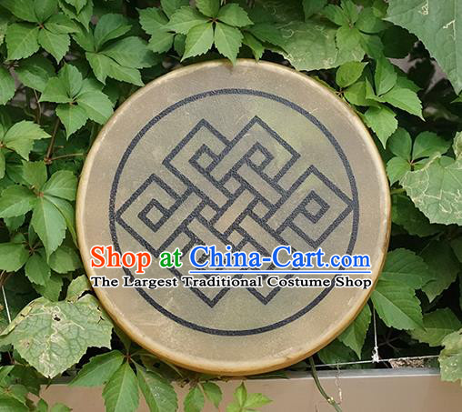 German Traditional Musical Instruments Endless Knot Pattern Drum Religious Shaman Drum Shamanic Tupan Cowhide Drums
