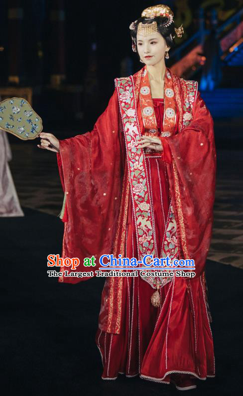 China Traditional Wedding Hanfu Apparels Song Dynasty Historical Costumes Ancient Court Beauty Embroidered Clothing